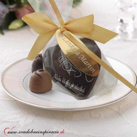 """Svadobná čokoládka """"SRDIEČKO"""","""