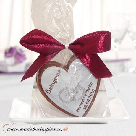 """Svadobná čokoládka """"SRDIEČKO"""" - PERSONALIZOVANÁ,"""