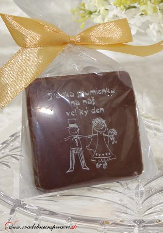 """Svadobná čokoládka """"Tablička"""" - aj s Vašimi menami,"""
