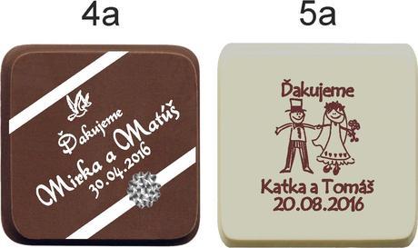 """Svadobná čokoládka """"TABLIČKA"""" - PERSONALIZOVANÁ,"""