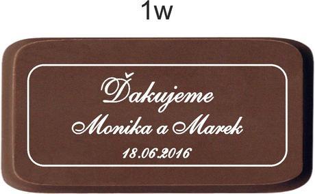 Svadobná čokoládka v kartóniku - PERSONALIZOVANÁ (,