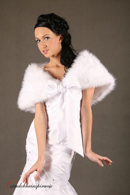 Svadobné bolerka a kožušky - rôzne farby, veľkosti,