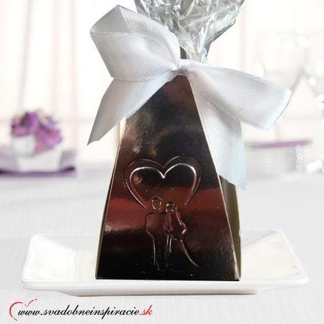 Svadobné čokoládky (5 ks) v škatuľke,