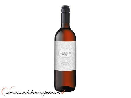 Svadobné etikety na víno (50 ks),