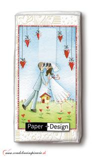 Svadobné papierové vreckovky I LOVE YOU,