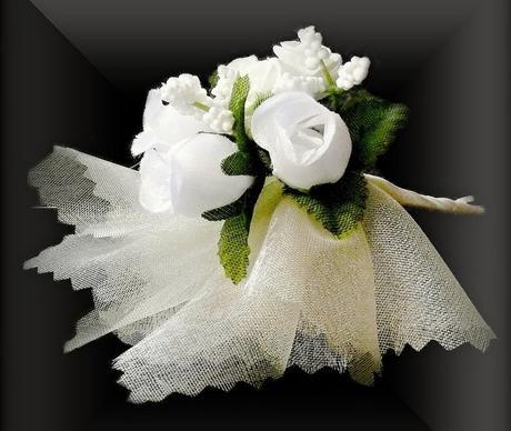 Svadobné pierko P001 - Biele,