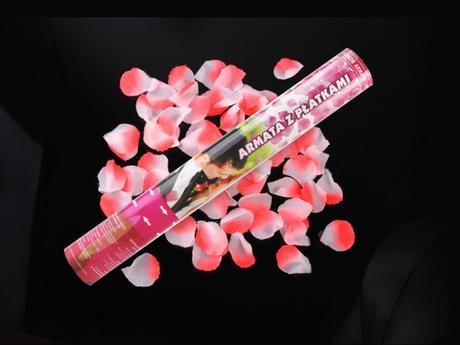 Vystreľovacie confetti - Lupienky ruží 40cm,