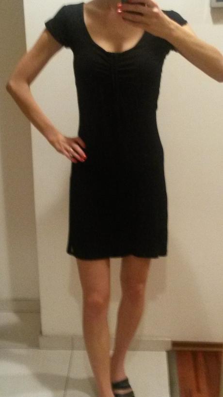 Čierne Amisu šaty - ani raz neoblecene, 36