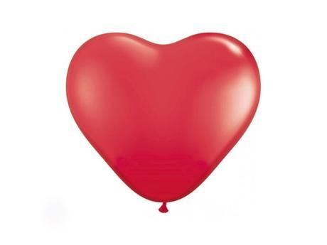 Balón srdce červené,