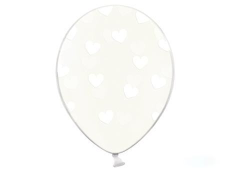 Balóny srdiečkové (6ks) - rôzne farby,