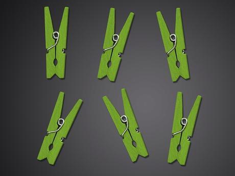 Dekoračné minikolíčky (24ks) - rôzne farby,