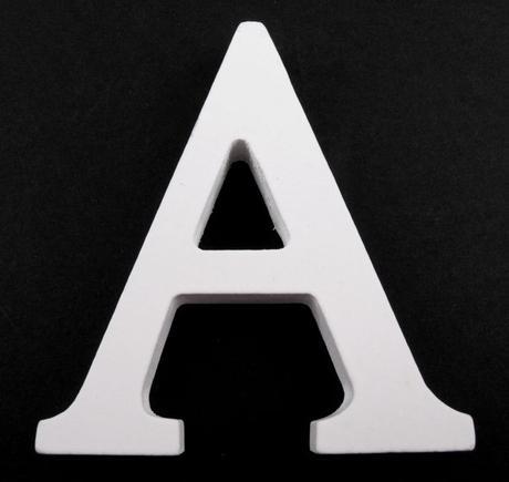 Drevené písmeno A,