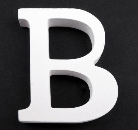 Drevené písmeno B,