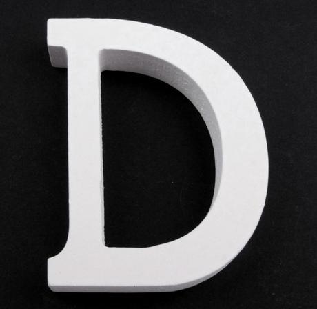 Drevené písmeno D,