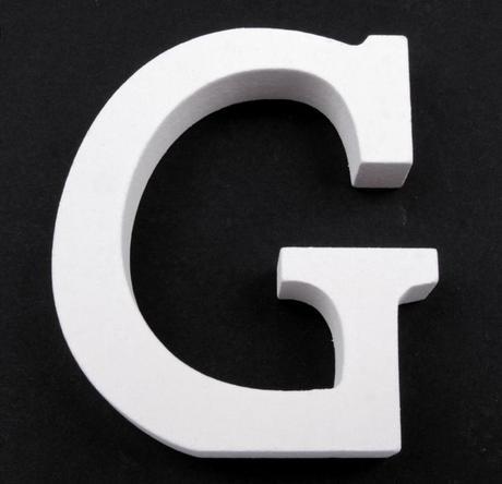 Drevené písmeno G,