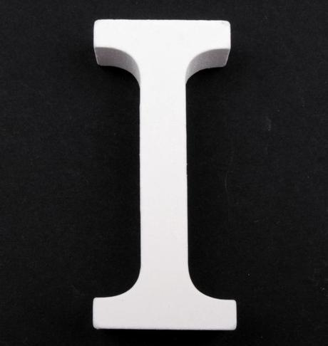 Drevené písmeno I,