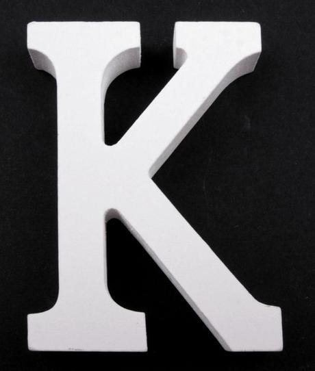 Drevené písmeno K,