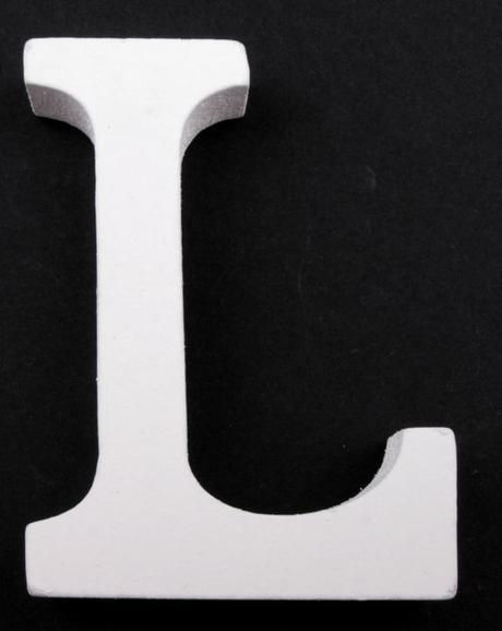Drevené písmeno L,