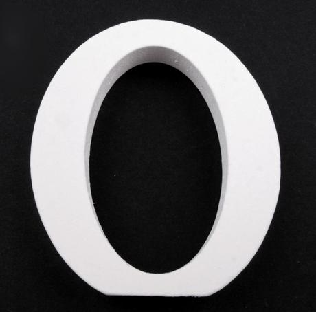 Drevené písmeno O,