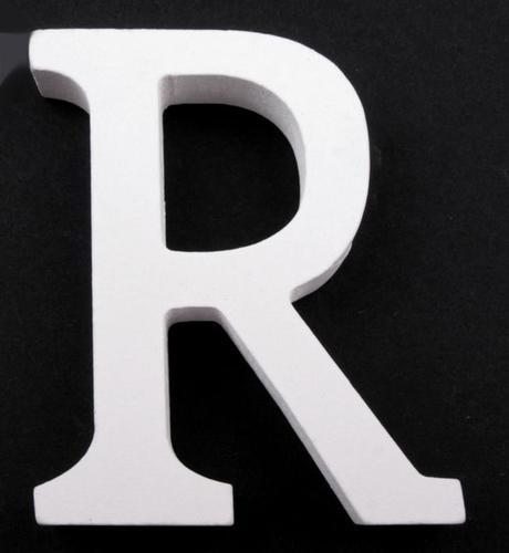 Drevené písmeno R,