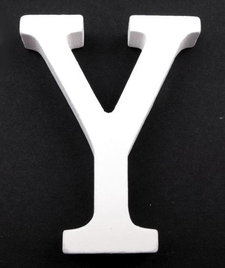 Drevené písmeno Y,