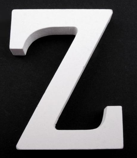 Drevené písmeno Z,