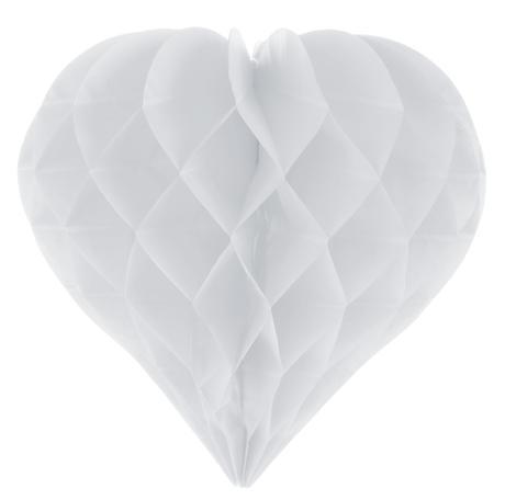 Honeycomb ball srdce biele,