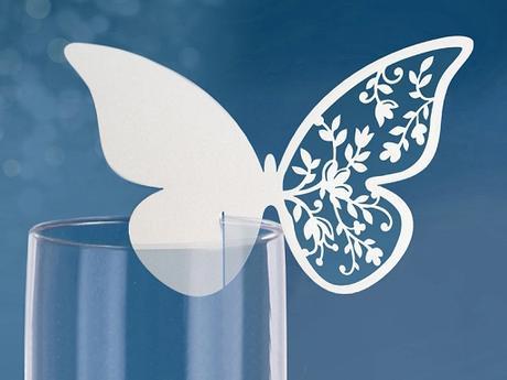 Menovka motýľ vyrezávaný (10ks),