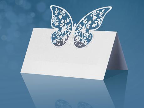 Menovka s motýľom (10ks),