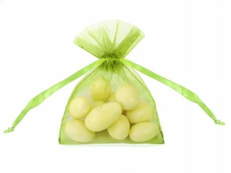 Pytlíček na mandle zelené jablko,