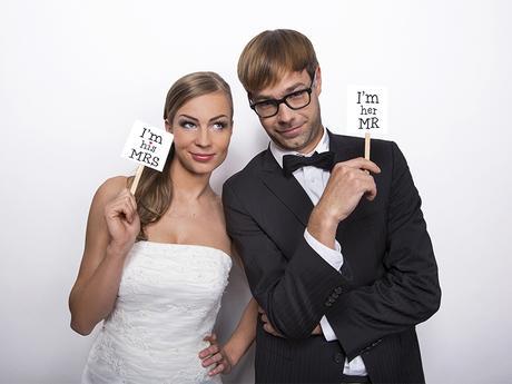 Tabuľky Mr a Mrs,
