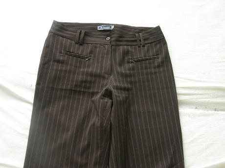 Hnedé elegantné nohavice, 44