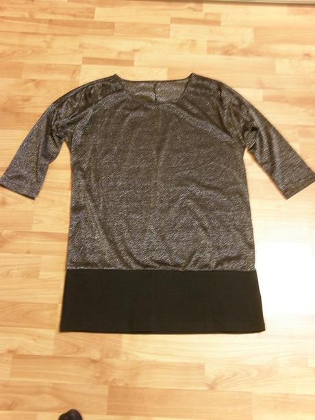 Strieborné tričko predĺžené, 46