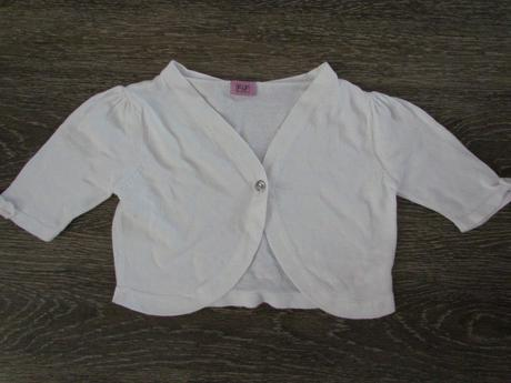 bílé svetrové bolerko vel.110, 110