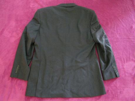 Pánské tmavošedé pruhované sako zn. Next vel. 52, 52