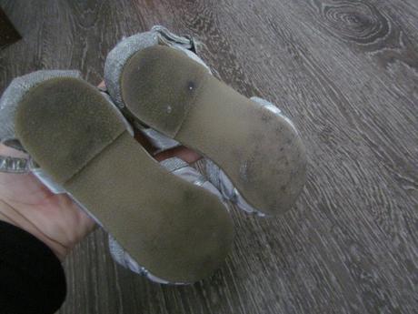 stříbrné boty Next vel. 24, 24