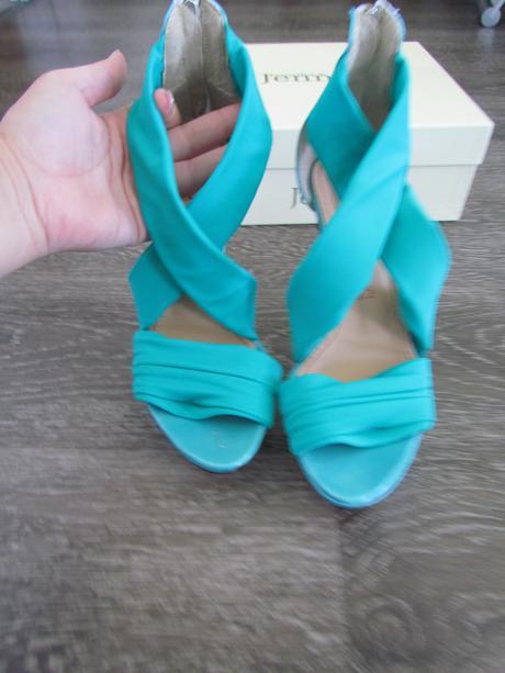 tyrkysové sandále, lodičky vel. 37, 37