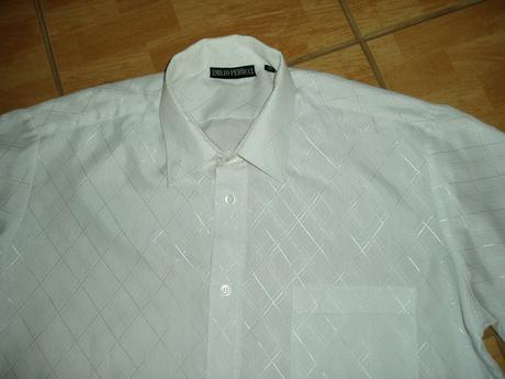 Luxusná svadobná košeľa-Emilio Perucci, 38