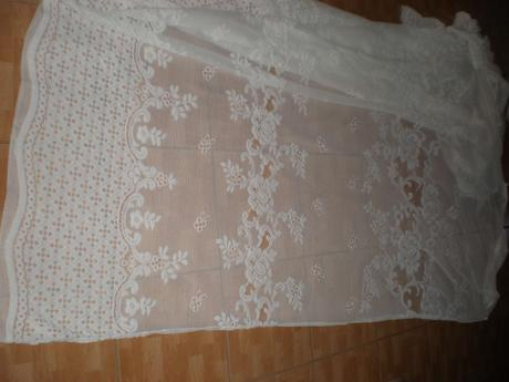 Luxusná veľká vyšívaná záclona-2,45X5m ,