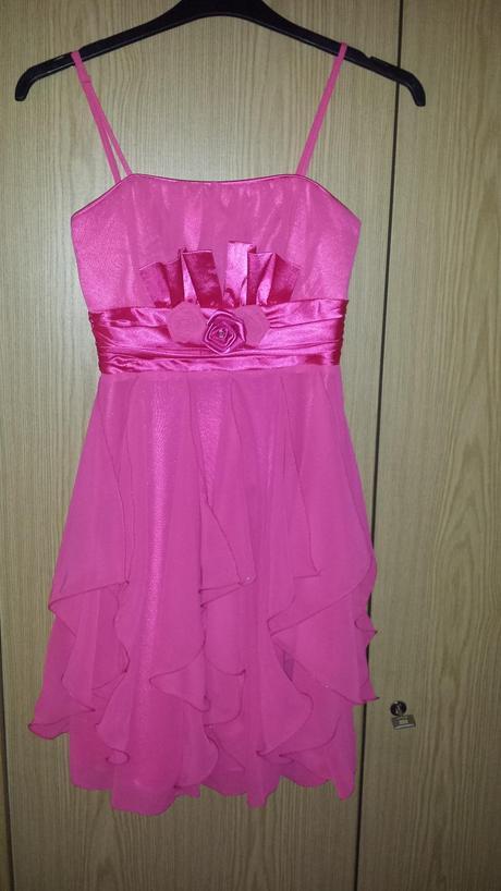 Spoločenské cyklámenové šaty 36-S, 36