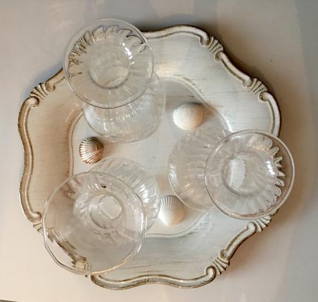 3 skleněné vázy (v 23cm) - RESERVE,