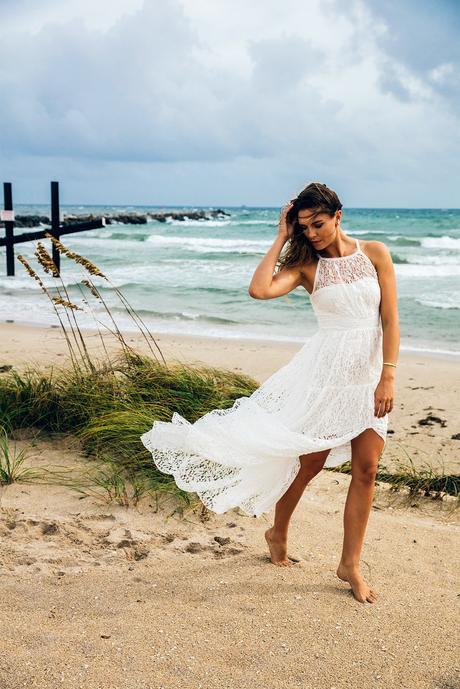 Ivory BOHO svatební šaty od Body Frock, 38