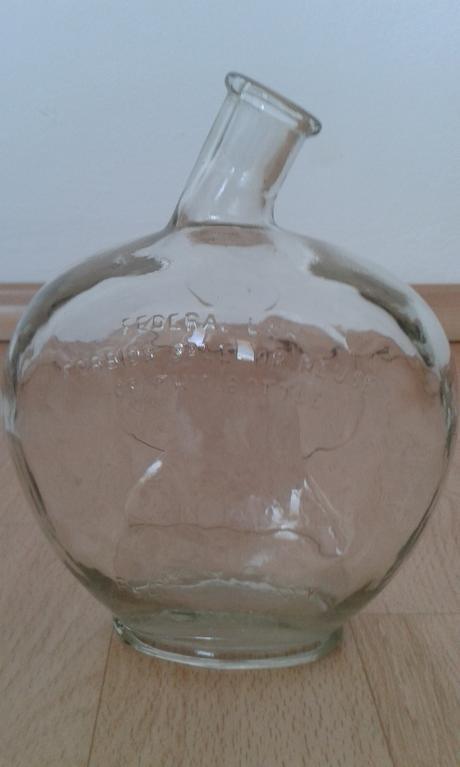 fľaša sklenená,