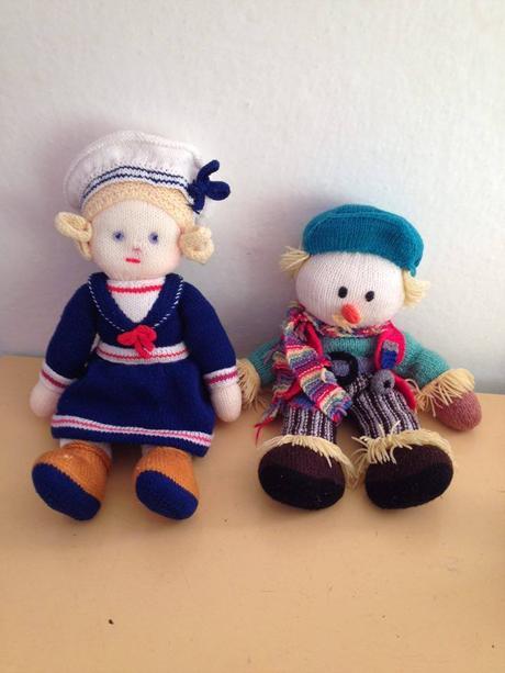 štrikované bábiky,