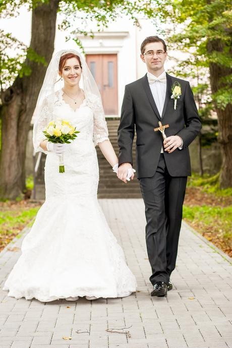 svadobné šaty s rukávom 36, 38