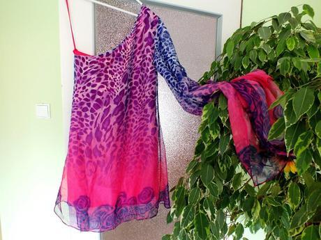 Letné šifónovo-saténové šaty, 36