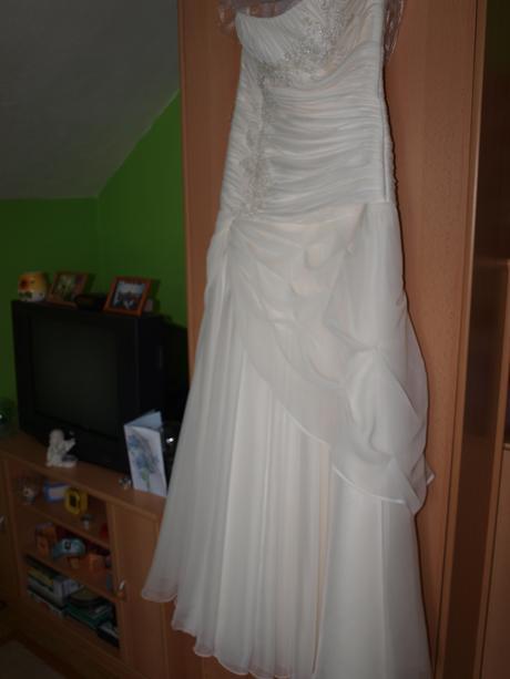 Ivory/ champagne/ maslové svadobné šaty 34-38, 36