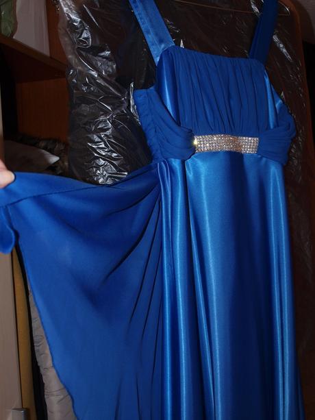 Spoloč.šaty kráľovská modrá - dlhé, 36