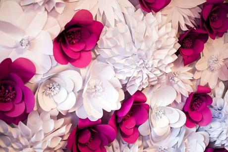 Fotostena z kvetov,