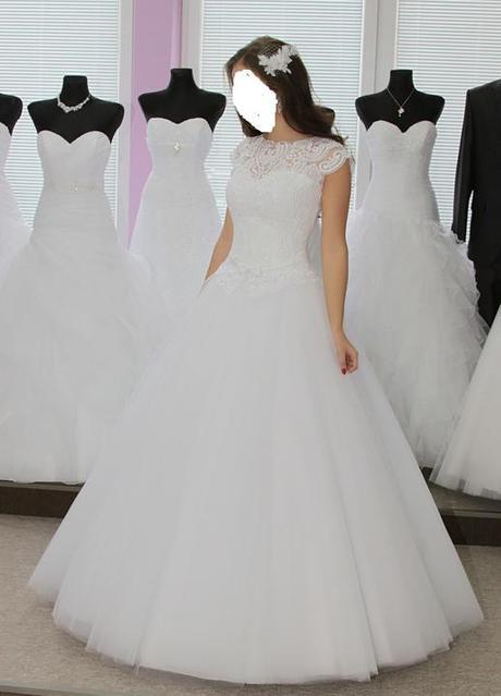 svadobné šaty s čipkou, 36